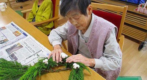 手作りリース…クリスマスバージョン♪
