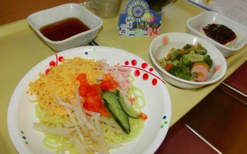 冷やし中華を食べました(^^)