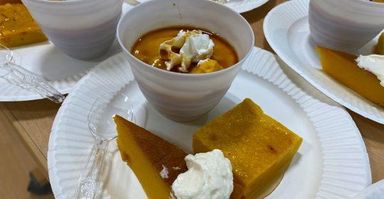 かぼちゃプリン・ケーキ-おやつ